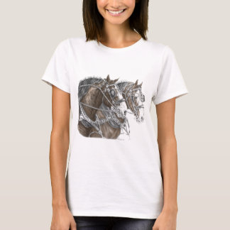 Clydesdale Draft Horse Team T-Shirt