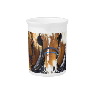 Clydesdale Draft Horses Pitcher