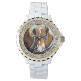 Clydesdale Draft Horses Wrist Watch