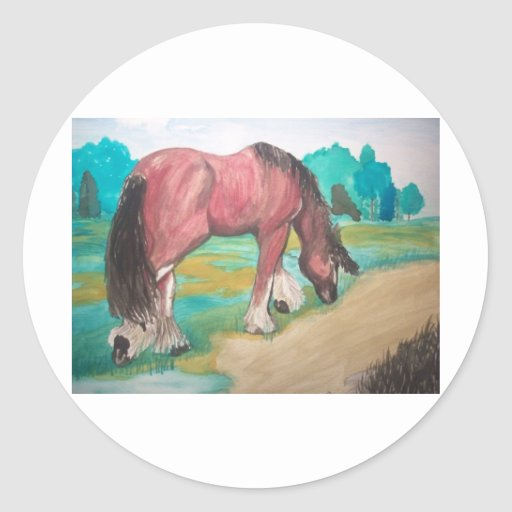 Clydesdale grazing stickers