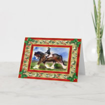 Clydesdale Horse Blank Christmas Card