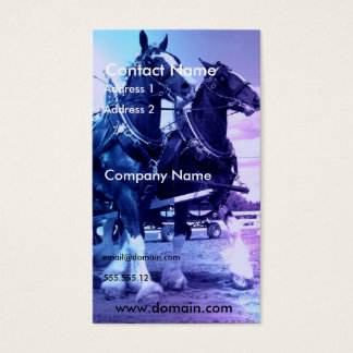 Clydesdale Horse Business Card