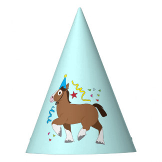 Clydesdale Horse Cartoon Party Hat