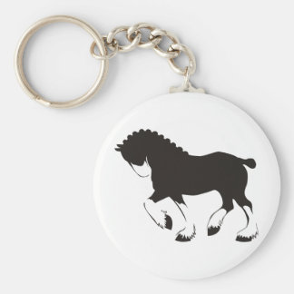 Clydesdale Horse Keychain