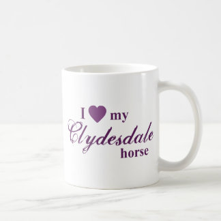 Clydesdale horse classic white coffee mug