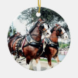 Clydesdale Horses Christmas Ornament