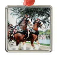 Clydesdale Horses Christmas Tree Ornament
