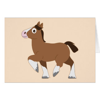 Clydesdale in Cartoon Blank Notecard
