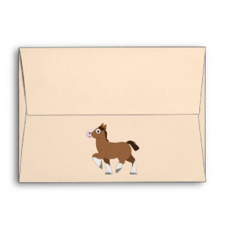Clydesdale in Cartoon Greeting Card Envelope