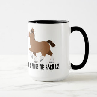 Clydesdale in Cartoon: Home is Where the Barn Is! Mug