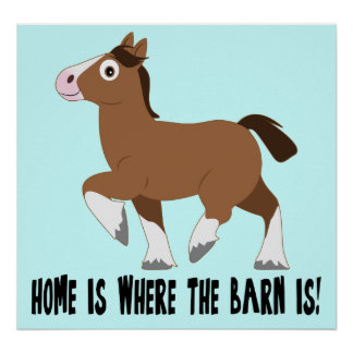 Clydesdale in Cartoon: Home is Where the Barn Is! Poster