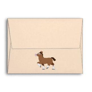 Clydesdale in Cartoon  Notecard Envelope