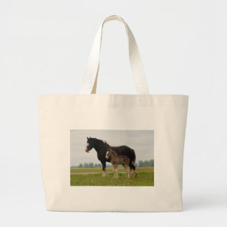 clydesdale mare and filly canvas bags