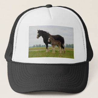 clydesdale mare and filly trucker hat