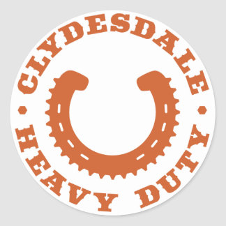 """Clydesdale MTB """"Heavy Duty"""" Sticker"""