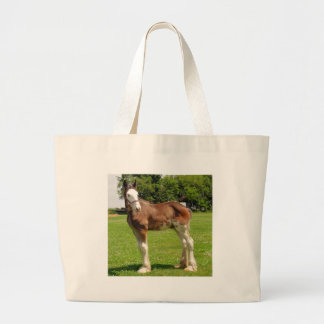 clydesdale stud tote bags