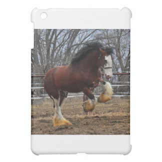 Clydesdale stud colt running iPad mini cases