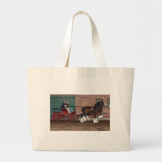 Clydesdales cart canvas bags