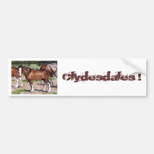 Clydesdales Rule Horse Art Bumper Sticker