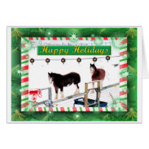 CLYDSDALES IN WINTER CARD