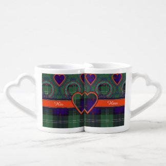 Clyne clan Plaid Scottish kilt tartan Couples Mug