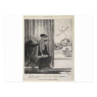 Clytemnestra pushed by Mimi Veron (Rachel) Postcard