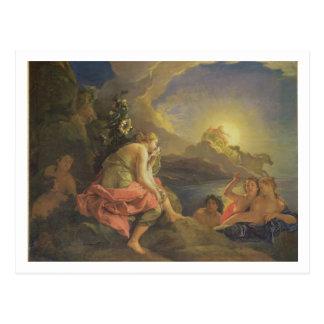 Clytie transformó en un girasol, 1688 (aceite ence tarjetas postales