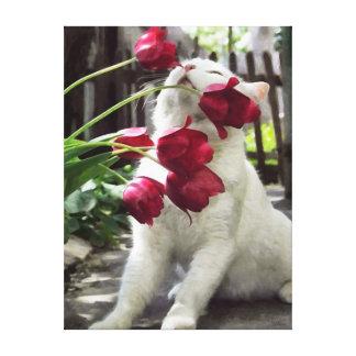 CM10755 - Romantic Cat Canvas Print