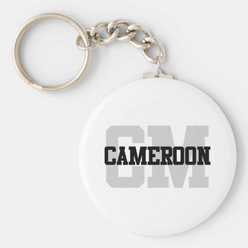 CM Cameroon Basic Round Button Keychain