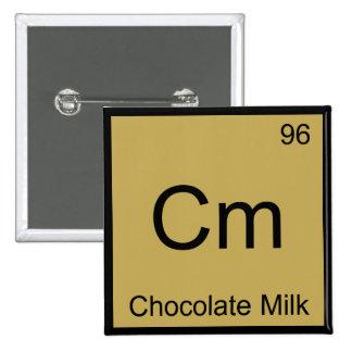 Cm - Chocolate Milk Chemistry Element Symbol Tee Button
