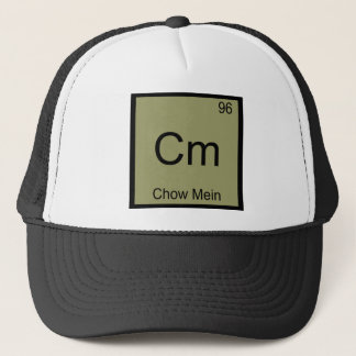 Cm - Chow Mein Funny Chemistry Element Symbol Tee Trucker Hat