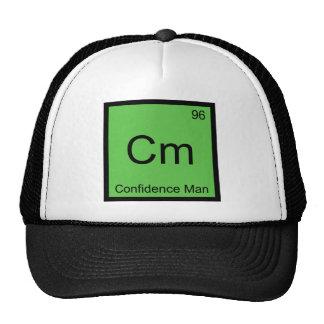 Cm - Confidence Man Chemistry Element Symbol Tee Hats