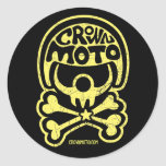 CM Moto Clown Stickers (vintage yellow)