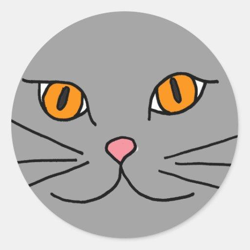 CM pegatina divertido de la cara del gato