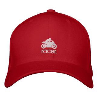 CM Racer Hat wht Embroidered Baseball Cap
