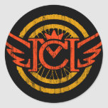 CM Vintage Wings Classic Round Sticker