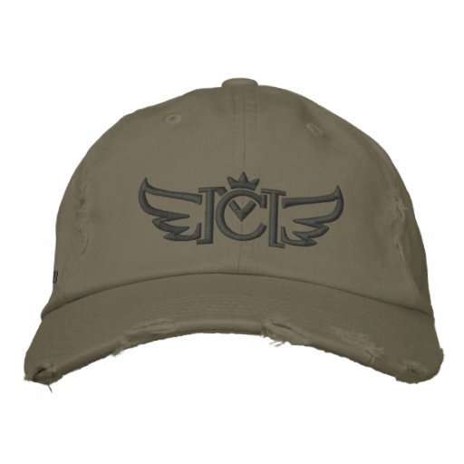 CM Wings (charcoal) Embroidered Baseball Hat
