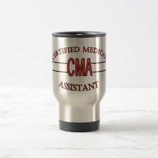 CMA Certified Medical Assistant LOGO Travel Mug