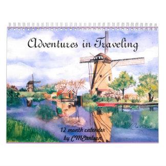 CMCarlson Adventures in Traveling Calender Calendars