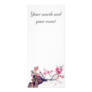 CMCarlson  Cherry Blossom Keepsake Bookmarker Rack Card