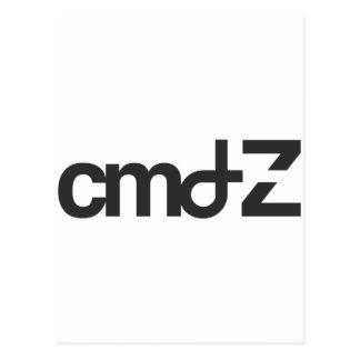CMD  Z  logo Postcard