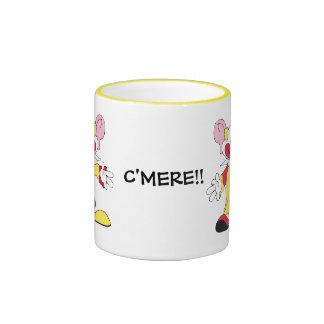 C'MERE! Big Eared Clown Ceramic Mug