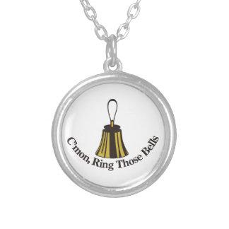 Cmon Ring Those Bells Round Pendant Necklace