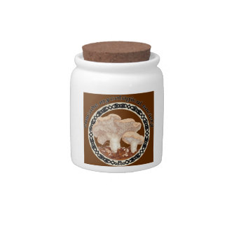 CMS Hedgehog Mushroom Logo Cookie Jar Candy Jars