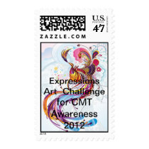 CMT Awareness Expressions Art Exhibition 2012 Postage