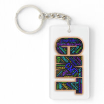 CMT Awareness Keychain (Word Cloud)