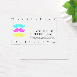 CMY Mustaches Business Card