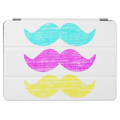 CMY Mustaches  letterpress style  iPad Air Cover