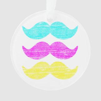 CMY Mustaches (letterpress style) Ornament