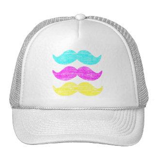 CMY Mustaches (letterpress style) Trucker Hat